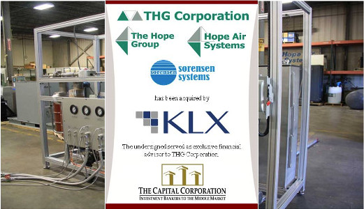 The Capital Corporation advises THG Corporation on its sale to KLX, Inc.